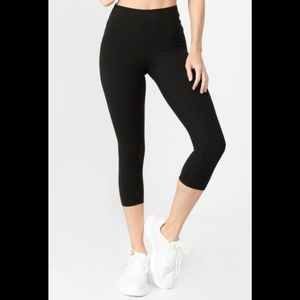 Pants - Gym Leggings High Waist Workout Yoga Capri Fitness